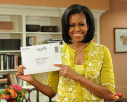 SHE IS THE CUTEST barackobama:  Through the magic of absentee ballots, FLOTUS just voted. Find out if you can vote early too.
