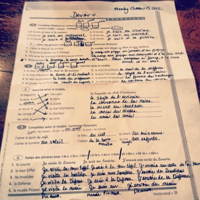 Is it weird that I love when I have #french #homework?   (Taken with Instagram at Alliance Francaise)