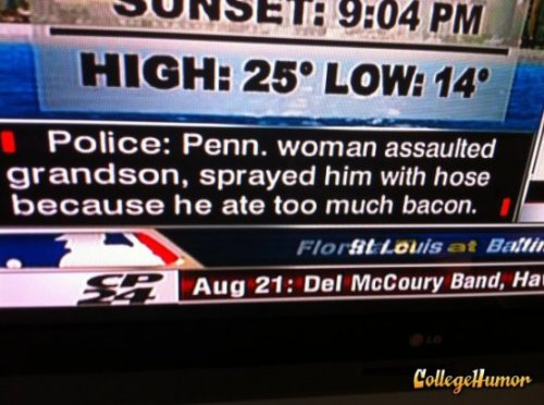 Bacon Assault  Bacon was supposed to be the olive branch of our generation.