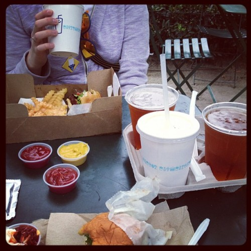 "They ""accidentally"" gave me extra beers at Shake Shack! (Taken with Instagram at Shake Shack)"