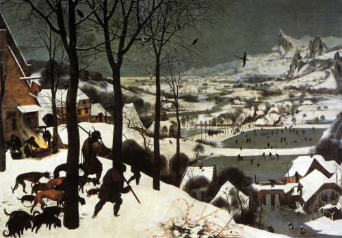 masterpiecedaily:   Pieter Bruegel the Elder The Hunters in the Snow, January 1565