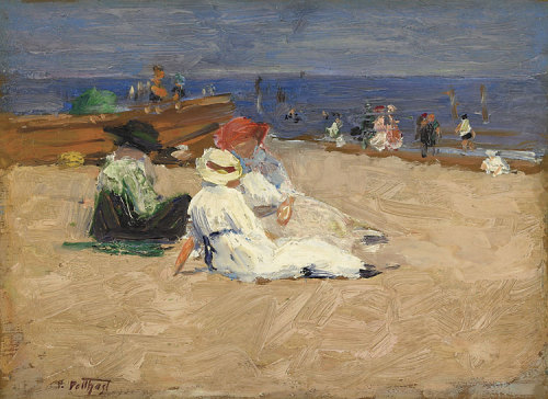 poboh: ca 1910-20 Edward Henry Potthast (American Impressionist, 1857-1927) ~ Ladies in White Dresses