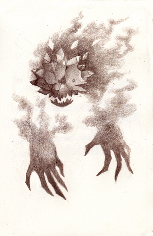 "drakmarth asked you:  ""Pokémon suggestion: Haunter - sinister looking, floating face with fangs and angular/sharp features, as well as disembodied, clawed hands."""