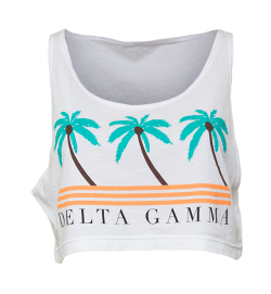 Delta Gamma Palm Tree Crop Top
