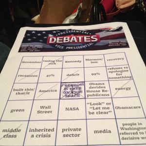 Debate bingo has been exciting! Join us for an all new Town Hall-specific game tomorrow night at 9pm. (via foursquare)