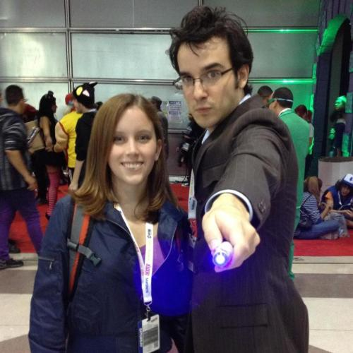 Tenth Doctor Cosplay angryvelociraptor:  me & my doctor
