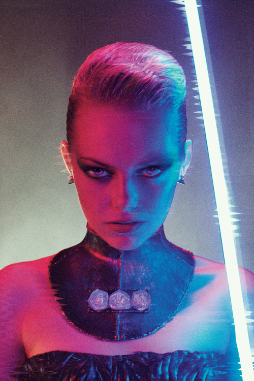 Emma Stone photographed by Mikael Jansson and Styled by Karl Templer for Interview Magazine.