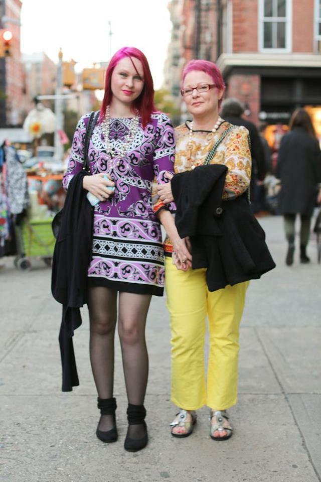 "humansofnewyork:  ""She's my newer, more improved version."""