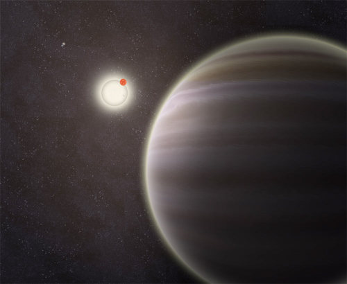 "ikenbot:  Amateur Team Finds 'Tatooine' Planet with 2 Suns in 4-Star System Image 1: In this family portrait of the PH1 planetary system, the newly discovered planet is depicted in this artist's rendition transiting the larger of the two eclipsing stars it orbits. Off in the distance, well beyond the planet orbit, resides a second pair of stars bound to the planetary system. Released Oct. 15, 2012. Credit: Haven Giguere/Yale Amateur astronomers have helped discover an alien planet with two suns and a twinkling twist: The entire twin-sun setup, a real-life version of Tatooine from ""Star Wars,"" is orbited by two more stars — a solar system that is the first of its kind known. Image 2: An artist's illustration of PH1, a circumbinary planet with two parent stars and two more stars orbiting the entire system; PH1 was discovered by volunteers from the Planet Hunters citizen science project. Image released on Oct. 15, 2012. Credit: Haven Giguere/Yale The alien planet, called PH1, is a gas giant planet slightly bigger than Neptune. Its discovery in the midst of a strange, four-star planetary system is the first confirmed world discovered as part of the Yale University-led Planet Hunters project, in which armchair astronomers work with professional scientists to find evidence of new worlds in the bountiful data collected by NASA's Kepler space telescope. ""Planet Hunters is a symbiotic project, pairing the discovery power of the people with follow-up by a team of astronomers,"" said Debra Fischer, a professor of astronomy at Yale and planet expert who helped launch Planet Hunters in 2010, in a statement. ""This unique system might have been entirely missed if not for the sharp eyes of the public."" Since its March 2009 launch, Kepler has found evidence of more than 2,300 candidate alien worlds. Finding a strange, new world Since its initial discovery via Planet Hunters, the existence of PH1 has been confirmed by a team of professional astronomers, who will present their work today (Oct. 15) at the annual meeting of the Division for Planetary Sciences of the American Astronomical Society in Reno, Nev. With a radius about 6.2 times that of Earth's, PH1 is a smidge bigger than Neptune. The gassy planet spends 138 days completing a single orbit around its two parent stars, which have masses about 1.5 and 0.41 times that of the sun. The stars circle each other once every 20 days. The two other stars orbiting the PH1's twin suns are about 1,000 astronomical units (AU) from the parent stars. (One AU is about the distance between the Earth and sun, about 93 million miles or 150 million kilometers.) source"