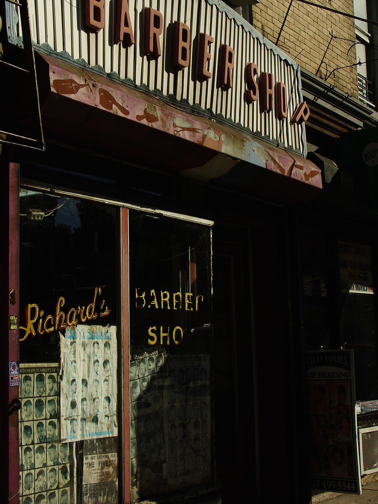 barber sho p on Flickr. Crown Heights? Brooklyn PHOTO FLASHBACK: October 13th 2006 © Rachael Noel Fox