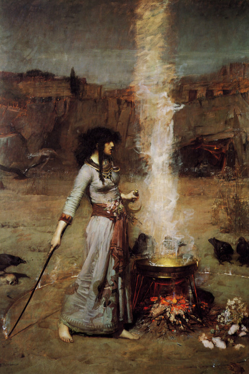 The Magic Circle by John William Waterhouse, 1886