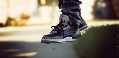 sweetsoles:  Nike Air Jordan III Retro Black/Cement (by jaliskoe23)