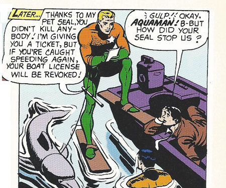 Aquaman needs to get another form of transportation. One where dignity comes standard.