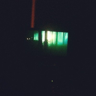 Watching dark shadows and Prometheus!  (Taken with Instagram)