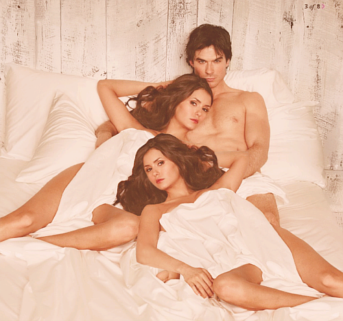 Elena x Damon x Katherine What happens here… Stay's here.