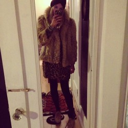 Maybe the fur is a it much for my ten year. #ootd #wiwt (Taken with Instagram)