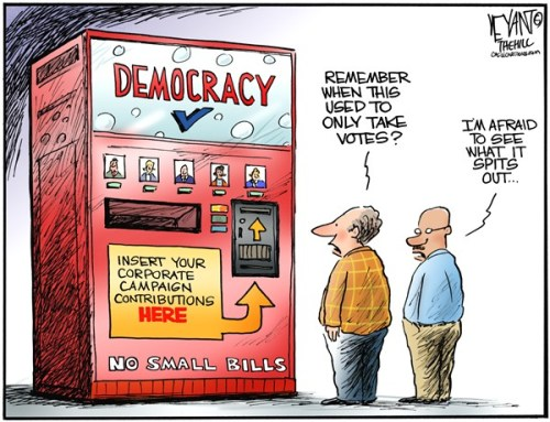 "cartoonpolitics:  ""Change is inevitable .. except from a vending machine."" ~ Robert C. Gallagher"