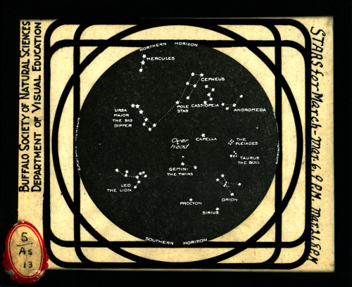 Stars for March  from the Visual Studies Workshop Lantern Slide Collection www.vsw.org