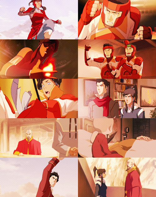 the legend of korra + red