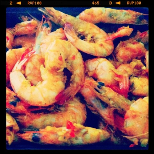 Jamaican pepper shrimp made by yours truly - #recipe #shrimp #seafood #spicy #menu #foodgasm #foodporn #instafood #homecooking #instagood #ignation #igfood #igaddict #iphoneography #iphoneonly #phoneography  (Taken with Instagram)