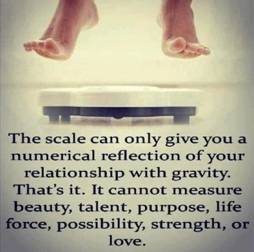 Basically the gist of why I chose Living Beyond the Scale as my Blog name!