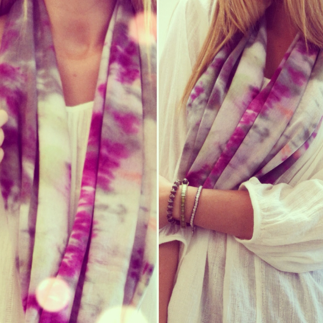 riiaeatsright:  Handmade Infinity Scarf in Purple Tie Dye! Made by yours truly :)) (Taken with Instagram @riiaberg)