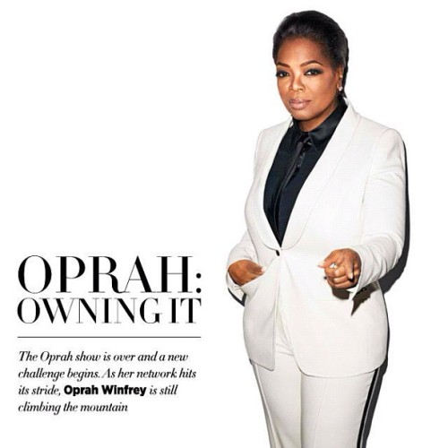 Oprah Winfrey for Harpers BAZAAR—she looks immaculate & she is OWNing this look in my opinion! Great article as well. (Taken with Instagram)