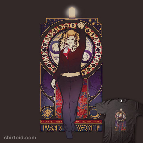 shirtoid:  Bad Wolf by Megan Lara is available at Redbubble