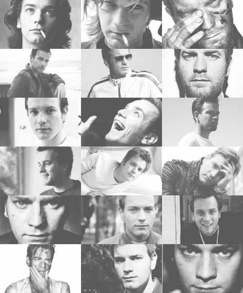 Ewan McGregor + black&white (requested by anonymous)