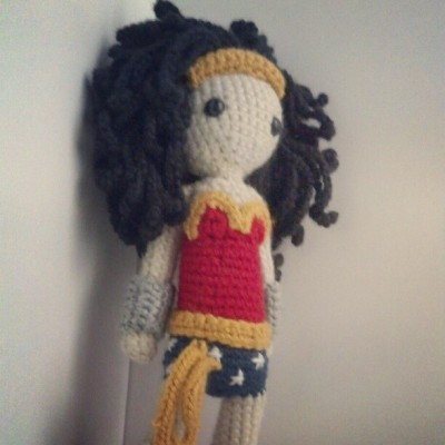 Crocheted Wonder Woman  I'm pretty happy with how she turned out :) (Taken with Instagram)