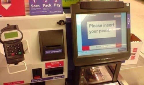 Self Check-Out Gets a Little Frisky You can do it so long as you scan the condoms first.