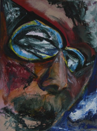 Man In Sunglasses Oil on Linen