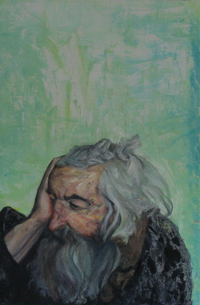 Man Resting Oil on Linen
