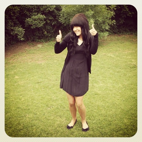 Thumbs up for Day 16 of #Frocktober 👍👍 visit http://www.everydayhero.com.au/ellyn_cridland to donate & support me in my mission to raise money for Ovarian Cancer Research! (Taken with Instagram at The Nelson St HQ Secret Garden 🌷🌾🍃)