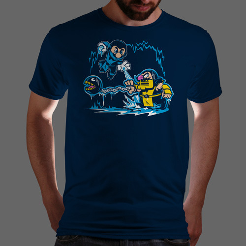 "qwertee:  ""Mario Kombat"" is today's tee on www.Qwertee.com Get this great design now for the super price of £8/€10/$12 for 24 hours only. Be sure to ""Like"" this for 1 chance at a FREE TEE this weekend, ""Reblog"" it for 2 chances and ""Follow"" us for a 3rd chance (if you're not already:) Thanks Guys!"