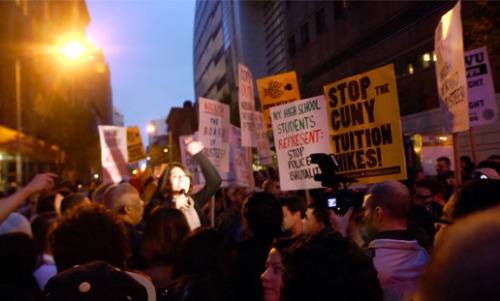 OCCUPY CUNY, a short by Jay Sterrenberg and me, will be screening this Wednesday at 92YTribeca as party of Occupy Flaherty NYC. Details here: http://www.92y.org/Tribeca/Event/Occupy-Flaherty-NYC.aspx Date: Wed, Oct 17, 2012, 7:30 pm Venue: 92YTribeca Screening Room Location: 92YTribeca, 200 Hudson Street  Price: from $12.00