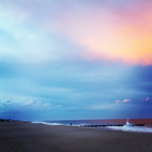 Sunset at the beach.  (Taken with Instagram at Sea Girt Beach - Seaside Pl)