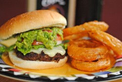 Serious Noms  (via Chili Cheddar Burgers W/Grilled Guac & Spicy Rings ~ Savour Texas: The Dad's Chili Mix Throwdown! | Juanita's Cocina)