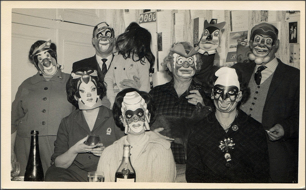 Costume party, 1950s  unexpectedtales