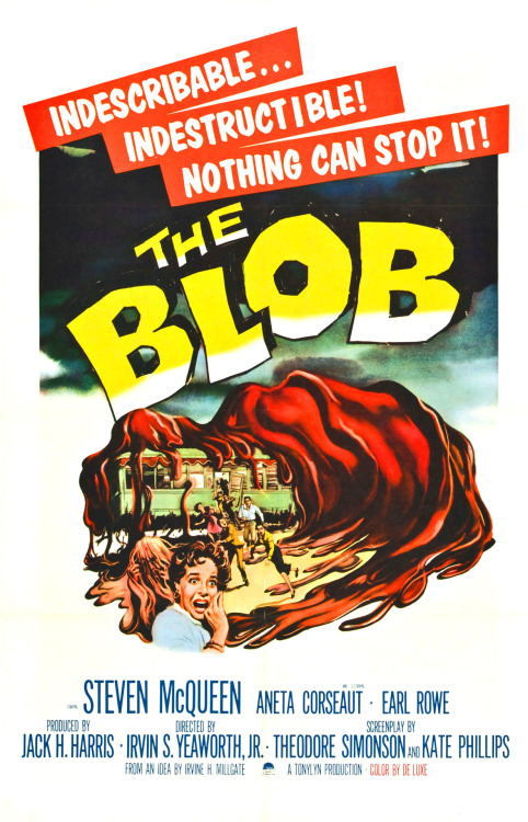 'The Blob' - 1958 film poster via theniftyfifties