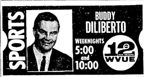 Speaking of Buddy D., here's the ad announcing his new gig at WVUE. 1966.