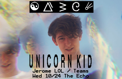 theechola:  Unicorn Kid, Jerome LOL, Teams 10.24.12 Tickets $10.00 - $12.00 18+  yes?/yes.