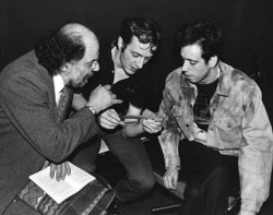 Mick, Joe, and Allen Ginsberg.