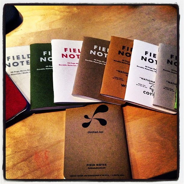 Distilled branded field notes to add to the collection (Taken with Instagram)