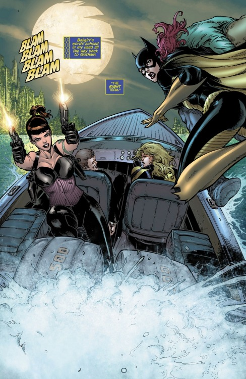 Black Canary, Starling, Batgirl from Birds of Prey #0 art by Romano Molenaar / Vicente Cifuentes  (C) DC 2012