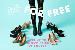 Shoe obsessed? Enter to win up to 50 pairs of shoes from Nasty Gal!
