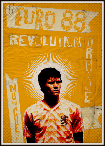 THE VINTAGE FOOTBALL CLUB ARTWORK EURO 88 Revolution oranje.