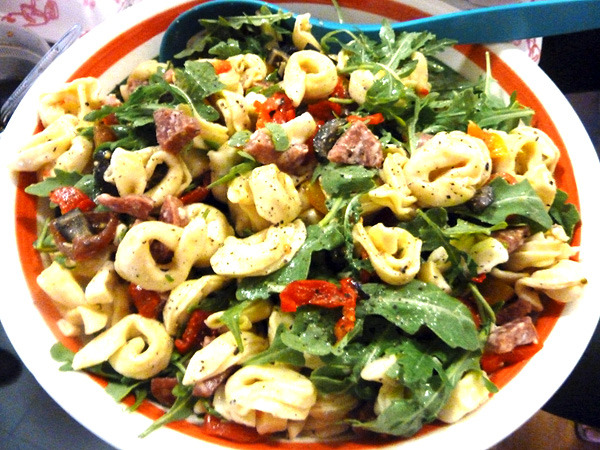 Tortellini Salad - the perfect potluck dish