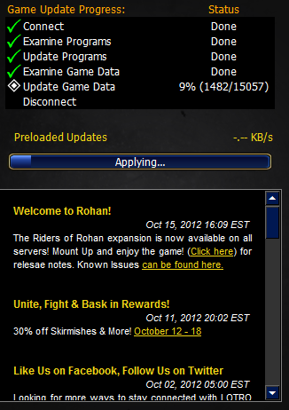 Maybe I shouldn't have waited so long to update LotRo. I could be playing by now.