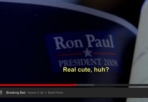 Political subliminal messaging in Breaking Bad…